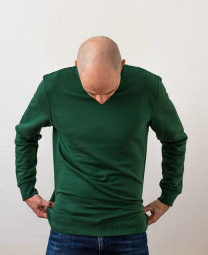 Sweatshirt Chauvage de couleur Bottle Green