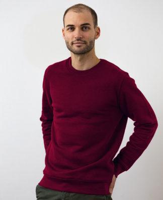 Sweatshirt Chauvage de couleur Burgundy