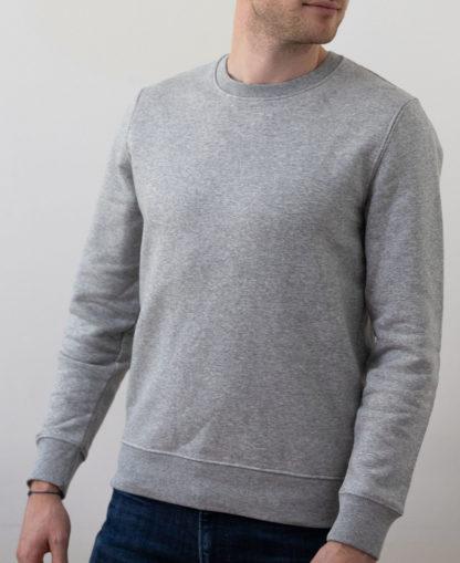 Sweatshirt Chauvage de couleur Heather Grey