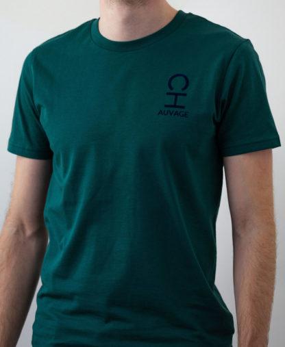 T-shirt Chauvage de couleur Bottle Green (vert bouteille)
