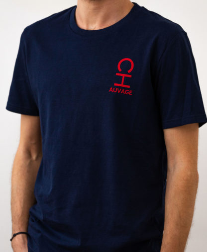 T-shirt Chauvage de couleur French Navy