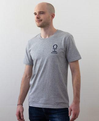 T-shirt Chauvage de couleur Heather Grey