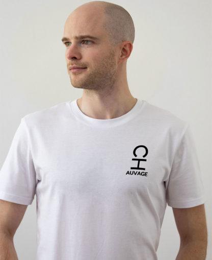 T-shirt Chauvage de couleur blanche