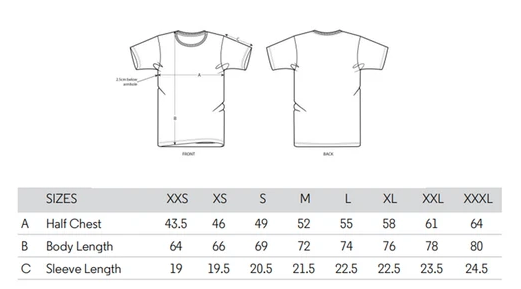 Guide tailles t-shirts Chauvage