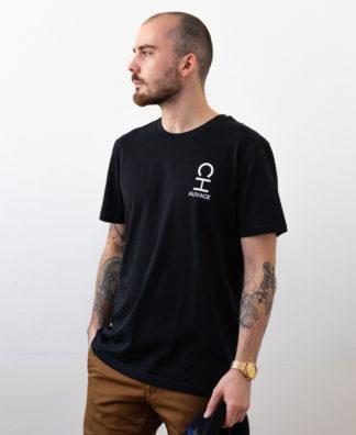 T-shirt Chauvage de couleur noir