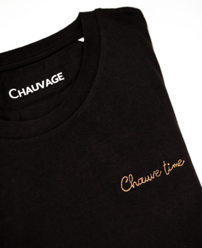T-shirt Chauvage Chauve time personnalisable Black