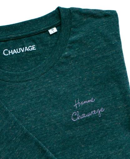 T-shirt Homme Chauvage personnalisable de couleur Heather Green