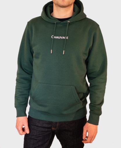 Photo n°2 du Hoodie Chauvage de couleur Glazed Green
