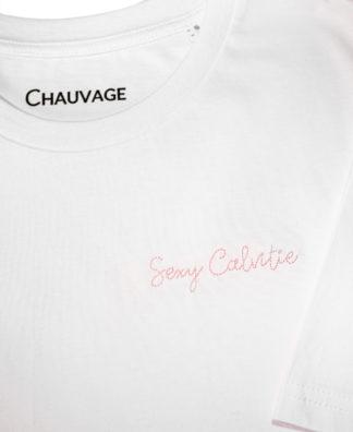 T-shirt Sexy Calvitie personnalisable de couleur White