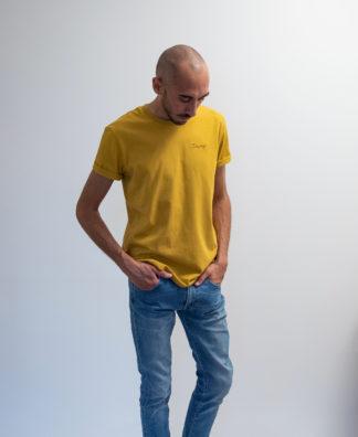 T-shirt Ochre brodé avec fil noir